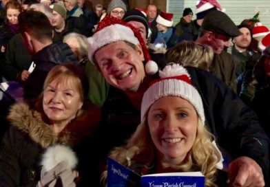 Christmas Eve in neighbouring Lymm Village