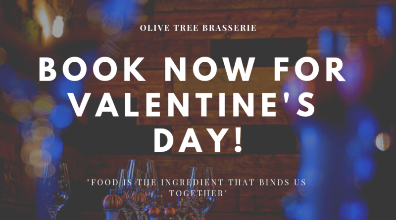 Valentines Day at Olive Tree £29.95pp